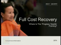 Full Cost Recovery: Where is the 'Progress Needle' Pointing?